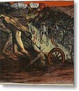 The Burden Of Taxation, Illustration Metal Print by Eugene Cadel