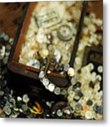 The Button Drawer Metal Print