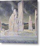 The Callanish Legend Isle Of Lewis Metal Print by Evangeline Dickson