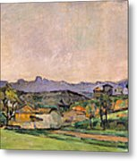 The Chaine De Letoile With The Pilon Du Metal Print by Paul Cezanne