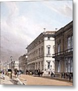 The Club Houses, Pall Mall, 1842 Metal Print by Thomas Shotter Boys