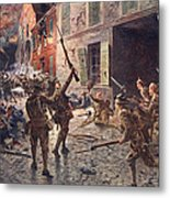 The Coldstream Guards At Landrecies Metal Print