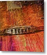 The Color Of Music Digital Guitar Art By Steven Langston Metal Print by Steven Lebron Langston
