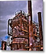 The Compressor Building At Gasworks Park - Seattle Washington Metal Print by David Patterson