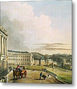 The Crescent, From Bath Illustrated Metal Print by John Claude Nattes