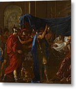 The Death Of Germanicus Metal Print by Nicolas Poussin