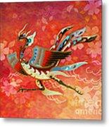The Empress - Flight Of Phoenix - Red Version Metal Print by Bedros Awak