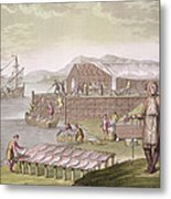 The Fishing Industry In Newfoundland Metal Print by G Bramati