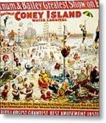The Great Coney Island Water Carnival Metal Print by Georgia Fowler