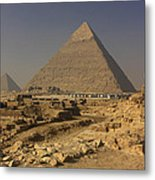 The Great Pyramids Of Giza Egypt  Metal Print by Ivan Pendjakov