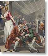 The Idle Prentice Betrayed Metal Print by William Hogarth