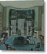 The Library, C.1820, Battersea Rise Metal Print by English School