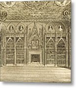 The Library, Engraved By Godfrey Metal Print