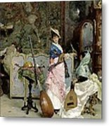 The Mandolin Shop Metal Print by Vincenzo Capobianchi
