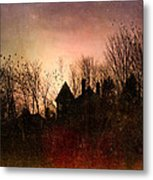 The Mansion Is Warm At The Top Of The Hill Metal Print by Bob Orsillo