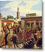 The Moroccan Storyteller Metal Print by Alfred Dehodencq