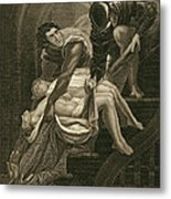 The Murder Of The Two Princes Metal Print by James Northcote