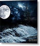 The Mysterious Moon Metal Print by Boon Mee