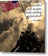 The Pledge Of Allegiance - Iwo Jima 20130211v2 Metal Print