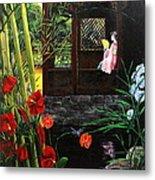 The Pond Garden Metal Print by D L Gerring