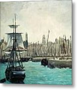 The Port At Calais Metal Print by Edouard Manet