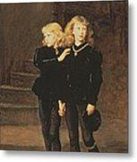 The Princes Edward And Richard Metal Print by Sir John Everett Millais