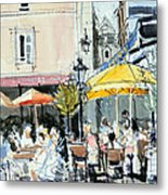 The Square At St. Malo Metal Print by Felicity House