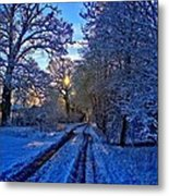 The Track Metal Print by Dave Woodbridge