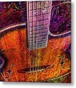 The Tuning Of Color Digital Guitar Art By Steven Langston Metal Print
