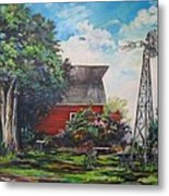 The Windmill Of The Garden Metal Print