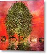 The Wishing Tree One Of Two Metal Print by Betsy Knapp