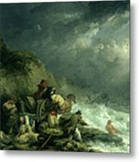 The Wreckers Metal Print by George Morland