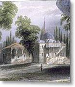 Third Court Of The Serai Bournou, C.1850 Metal Print by William Henry Bartlett
