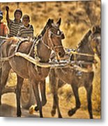 This Is Namibia No. 23 - Going To Town The Old Fashioned Way Metal Print by Paul W Sharpe Aka Wizard of Wonders