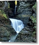 Three Falls In Watkins Glen Metal Print