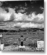 Three Headstones Metal Print by Mick Burkey