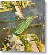 Ti Swingin' Swing Bridge Metal Print by Betsy Knapp