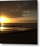 Touching The Sea Metal Print by Dave Woodbridge