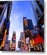 Traffic Cop In Times Square New York City Metal Print by Amy Cicconi