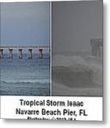 Tropical Storm Isaac Difference In A Day Metal Print by Jeff at JSJ Photography