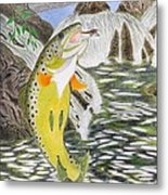 Trout Stream In May Metal Print by Gerald Strine