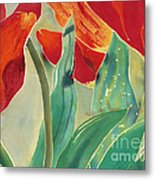 Tulips And Pushkinia Upper Detail Metal Print by Anna Lisa Yoder