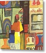 Tunisian Market Metal Print by August Macke
