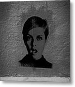 Twiggy Street Art Metal Print by Louis Maistros