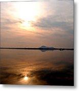 Twilight View Of Dal Lake- Kashmir- India- Viator's Agonism Metal Print by Vijinder Singh