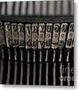 Typewriter Metal Print by Bernard Jaubert