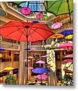 Umbrellas At Palazzo Shops Metal Print by Amy Cicconi