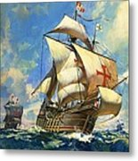Unidentified Sailing Ships Metal Print