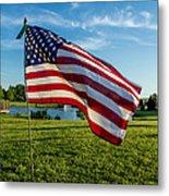 Usa Flag Metal Print by Phyllis Bradd