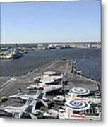 Uss Enterprise Arrives At Naval Station Metal Print